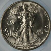1943 S WALKING LIBERTY HALF PCGS MS63 SUPER SHARP STRIKE FOR THIS  ISSUE