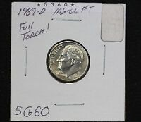 1989 D ROOSEVELT DIME MS FULL TORCH
