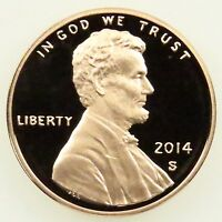 2014 S DEEP CAMEO PROOF LINCOLN SHIELD CENT PENNY B05