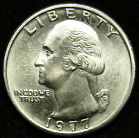 1977 UNCIRCULATED WASHINGTON QUARTER BU B01