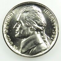 1987 P UNCIRCULATED BU JEFFERSON NICKEL BU B04