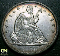 1858 SEATED LIBERTY HALF DOLLAR      MAKE US AN OFFER  W3802 ZXCV