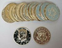 1969 S 50C KENNEDY HALF DOLLAR SILVER PROOF ROLL OF 20 COINS