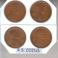 1930S TO 1950S   LINCOLN CENT PENNY ROLL LY MIXED FAST LOW $ SHIPPING
