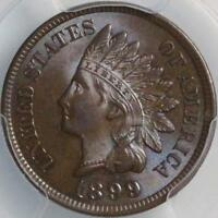 1899 INDIAN CENT PCGS MS62BN SUPER BRILLIANT THIS COIN IS PHENOMENAL