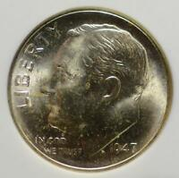 1947 S ROOSEVELT DIME NGC MS67  RD4