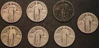 CIRCULATED STANDING LIBERTY QUARTERS 7   1925,1926,1929,1930    LOT 2D