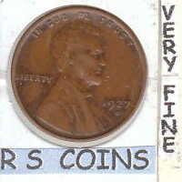 1927D     FINE   LINCOLN  CENT    VERY NICE    RS COINS SHIPS FREE    1787