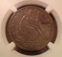 1845 O WITH DRAPERY SEATED LIBERTY 50C  NGC XF40  BETTER DATE