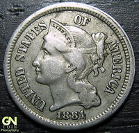 1881 3 CENT NICKEL PIECE      MAKE US AN OFFER  O2421