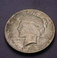 1922 P PEACE SILVER DOLLAR BU OBV TONING A DIFFERENT LOOK A1969