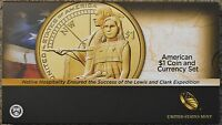 2014 D $1 SACAGAWEA NATIVE AMERICAN ENHANCED UNCIRCULATED COIN & CURRENCY SET