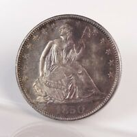 RAW 1850 O SEATED LIBERTY 50C UNGRADED UNCERTIFIED NEW ORLEANS HALF DOLLAR COIN