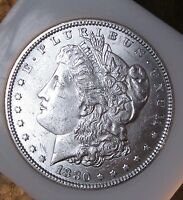 1880 MORGAN SILVER DOLLAR   UNCIRCULATED TOUGHER DATE FROSTY 1858