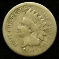 1860 INDIAN HEAD CENT PENNY G GOOD B02