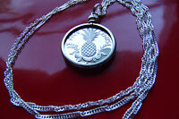 BAHAMAS PINEAPPLE PROOF COIN PENDANT  ON A 28