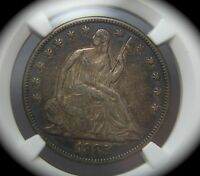 1885 LIBERTY SEATED SILVER HALF DOLLAR   NGC XF45