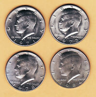 LOT 4 GEM UNC KENNEDY HALF DOLLARS 1971 D 1972 D 1978 D 1984 D
