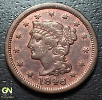 1846 BRAIDED HAIR LARGE CENT     MAKE US AN OFFER  O5768