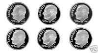 00'S ROOSEVELT  SILVER DIME PROOFS   2000 2005 6 NICE CAMEOS PROOFS AUG01