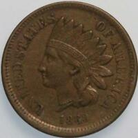 1860 POINTED BUST TYPE INDIAN CENT EXTRA FINE TOUGH SEMI KEY DATE TYPE COIN