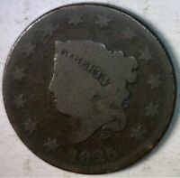 1844 LARGE CENT US COPPER COIN ESTATE PENNY LOT 1 OF 100 AUCTIONS W/