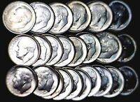 1953 /54/ 55PDS 1956PD 64PD CH BU SILVER ROOSEVELT DIME COMPLETE PDS 27 COIN LOT
