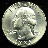 1985 D UNCIRCULATED WASHINGTON QUARTER BU B04