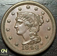 1848 BRAIDED HAIR LARGE CENT N20 R4     MAKE US AN OFFER  O2986