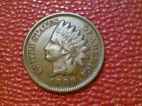 NICE VINTAGE U.S. COIN1899 INDIAN HEAD PENNY ONE CENT BR19