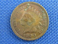 1900 U.S. INDIAN HEAD CENT COPPER PENNY COIN