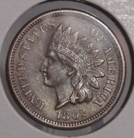 1862 INDIAN HEAD CENT. SUPER NICE COLLECTOR COIN FOR YOUR SET OR COLLECTION.
