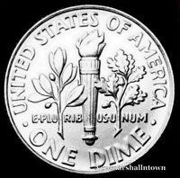 1980 D ROOSEVELT UNCIRCULATED DIME   RAW COIN FROM BANK ROLL
