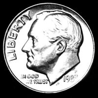 1983 P ROOSEVELT UNCIRCULATED DIME   RAW COIN FROM BANK ROLL
