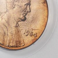1984 LINCOLN MEMORIAL 1C PCGS CERTIFIED MS66RD DOUBLED DIE OBVERSE US MINT ERROR