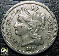 1872 3 CENT NICKEL PIECE      MAKE US AN OFFER  G2179