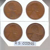 1915  1915D  1916D  1916S    4  GOOD/BETTER  LINCOLN CENTS  RS COINS SHIPS FREE