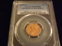 1970 S ONE CENT  LD  DOUBLE  DIE OBVERSE   PCGS MS 65 RD  NICE COIN