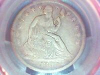 1867 S SEATED LIBERTY HALF DOLLAR PCGS VF25