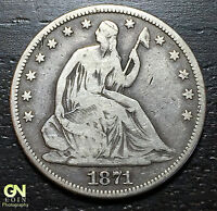 1871 SEATED LIBERTY HALF DOLLAR      MAKE US AN OFFER  O5765