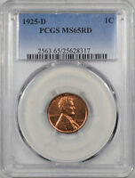 1925-D LINCOLN CENT PCGS MINT STATE 65 RD