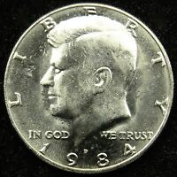 1984 D UNCIRCULATED KENNEDY HALF DOLLAR BU B01