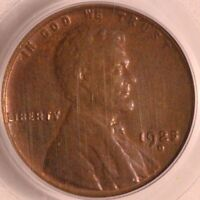 1925 D LINCOLN CENT PCGS MINT STATE 64BN, TOUGH SEMI KEY DATE, GLOSSY BROWN SURFACES