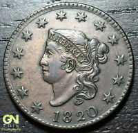 1820 CORONET HEAD LARGE CENT N13 R1        MAKE US AN OFFER  O3045