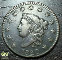 1820 CORONET HEAD LARGE CENT     MAKE US AN OFFER  W1232 ZXCV