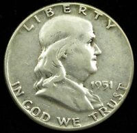 1951 90 SILVER FRANKLIN DOLLAR VG GOOD B02