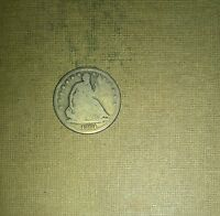1861 S     SEATED LIBERTY 50C