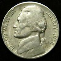 1952 S JEFFERSON NICKEL F FINE B01