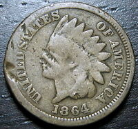 1864 CN INDIAN HEAD CENT      MAKE US AN OFFER  Y1727
