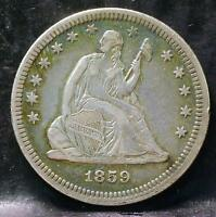 1859 LIBERTY SEATED QUARTER IDPP57